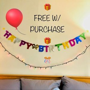 Other - 🎁 FREE W/ PURCHASE 🎁 Happy Birthday Party 🎊